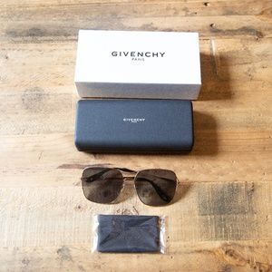 Givenchy 7004 Square Sunglasses Gold